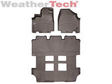 WeatherTech Floor Mats FloorLiner for Honda Odyssey - 2011-2017 - Cocoa