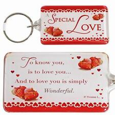 Sentiments key ring keyring with wording - Special Love - Birthday gift