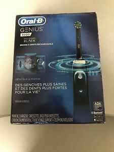 New/Sealed Oral-B Genius 8000 Rechargeable Electronic Toothbrush Midnight Black