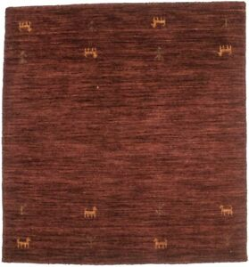 Tribal Maroon Red Hand Loomed 3X3 Oriental Square Rug Contemporary Decor Carpet