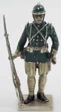 More details for vintage solid silver italian handmade infantry military statue figurine hallmark