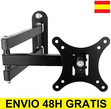 "Soporte de pared para tv LCD LED Plasma monitor Giratorio 10"" A 27"" Inclina 15º"