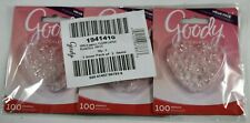 Lot of 3 Goody Ouchless Clear Latex Elastics 300 total bands BRAND NEW