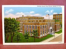 Postcard WV Beckley Raleigh County Court House