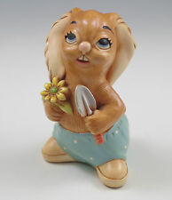 Vintage Pendelfin England Blossom - Bunny Gardener Whimsical Figurine
