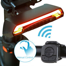 Bicycle Bike Indicator LED Rear Tail Light USB Wireless Remote Control 2 Laser #