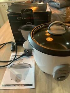 Electric Rice Cooker Steamer Kitchen Perfected White 0.8l Non-Stick 4 Cup