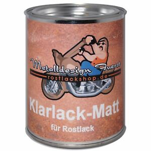 500ml (55,90 € / 1L) Klarlack Matt für Rostlack Ratlook