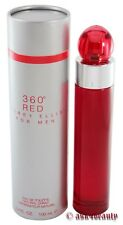 360 Red By Perry Ellis 3.4 oz Edt Spray For Men New In Box