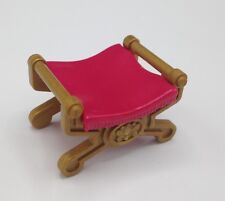 Playmobil Pink Bench Foot Stool Princess Castle Victorian Dollhouse Furniture