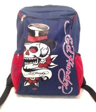 ED HARDY BLUE BACKPACK / RUCKSACK BAG