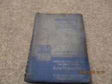 GM Series 71 6051 Quad 6 Cylinder & 2003 2 Cylinder Operator's Handbook.