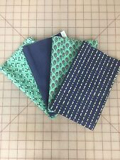 OOP Moda V and Co Color Me Happy Fabric Fat Quarter Bundle In Navy and Teal