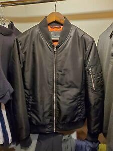 Calvin Klein Bomber Jacket Mens Medium Black, Unworn