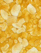 Timeless Treasures Potato Chips 100% cotton fabric by the yard