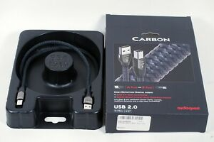 AudioQuest Carbon USB 2.0 A-B Cable 0.75m 5% Silver & 3-Layer Noise Dissipation