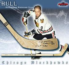 BOBBY HULL Signed & Inscribed Northland Wood Model Stick - Chicago Blackhawks