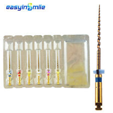 6 Files Endo X-Taper Gold NITI Rotary Files Motor Tip EASYINSMILE 25MM Assorted