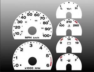 2003-2006 Jeep Wrangler TJ Dash Cluster White Face Gauges 03-06