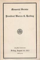 MEMORIAL SERVICE FOR PRESIDENT WARREN G. HARDING, PORTLAND, ME. AUGUST 10, 1923