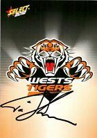 ✺Signed✺ 2012 WESTS TIGERS NRL Card TIM SHEENS