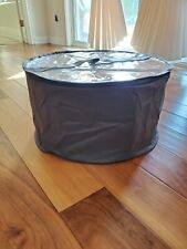 Large hat box gray with Clear Pvc Top