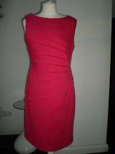@ IVANKA TRUMP @ 38 M Cocktail ETUIKLEID Stretch Party Abendkleid in Magenta