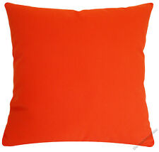 Orange Solid Decorative Throw Pillow Cover / Cushion Cover / Cotton 18x18""