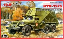 BTR 152 S COMMAND VEHICLE (SOVIET, POLISH, EAST GERMAN, EGYPTIAN DECALS 1/72 ICM