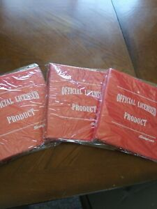 (3) NEW Snap On Snap-on Tools Red 3 Ring Binders New Old Stock Lot of (3)