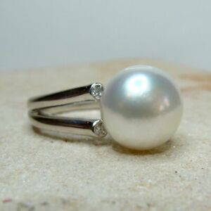 NEW JEWELLERY BROOME STAIRCASE DESIGNS Broome Pearl CZ Ring Sterling Silver