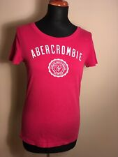 Abercrombie & Fitch Damen T-Shirt Rot Gr L Front Print Rundhals