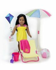 10 Piece Beach Furniture Set Fits 18 inch American Girl Dolls