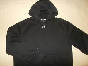 UNDER ARMOUR BLACK HOODED SWEATSHIRT MENS XL EXCELLENT CONDITION