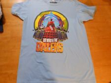 DOCTOR WHO AND THE DALEKS FULL FRONTAL BLUE T-SHIRT SIZE: MEDIUM