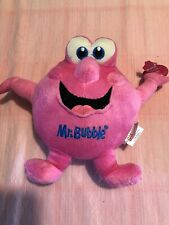 "Mr Bubble Pink Plush 8""  2011 Village Company Tag Is Bent"