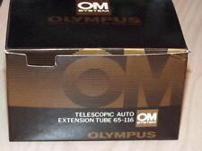 OLYMPUS OM ZUIKO 65-116 TELESCOPIC MACRO EXTENSION TUBE 20mm 38mm 80mm 135mm NEW