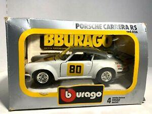 Burago  White #80  Porsche Carrera RS   Cod. 0114  Die-Cast Metal  1/24 scale