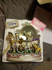 """Disney Mickey Mouse & Minnie Mouse Just Married Musical Wedding Snow Globe 9"""""""
