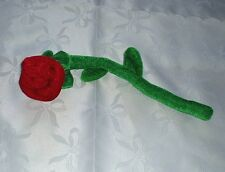 Red Velvet Rose Bendable Valentine Forever Love Hide A Ring Add To A Teddy Bear