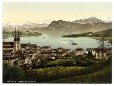 The Alps Lucerne A4 Photo Print