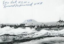 Leonard Nederveld signed autograph WW II Iwo Jima Rare COA LOOK!