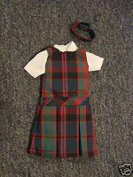 NIP 3 pc SCHOOL UNIFORM Dress Jumper Dress Outfit for Barbie doll PLAID #58