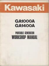 KAWASAKI  PORTABLE GENERATOR GA1000A & GA1400A WORKSHOP MANUAL P/N 99924-2012