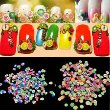 1000Pcs/Pack 3D Nail Fruits & Leaves Resin Tips Nail Art Manicure Decoration DIY