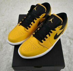 Nike Air Jordan 1 Low Men's University Gold/White/Black 553558-700 Size 11-13