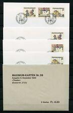 Liechtenstein no 887-889 2x FDC + 1x MK shoots 9.12.1985 - Theatre (134951)