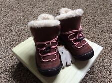 $69 Jambu brown Suede Leather Rubber  winter Shoe Boots Size US 8 EUR 25 ntru
