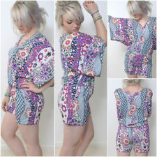 Kimono Sleeve V Neck Floral Jumpsuits & Playsuits for Women