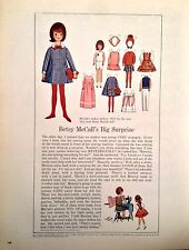 Vintage Betsy McCall Mag. Paper Doll, Betsy's Big Surprise, Feb. 1965